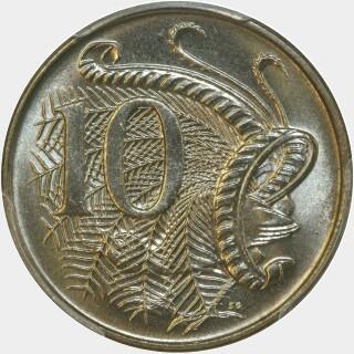 1966 Four spikes Ten Cent reverse