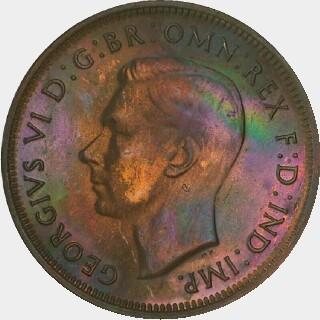 1946-Y Proof Half Penny obverse