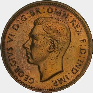 1945-Y Proof Half Penny obverse