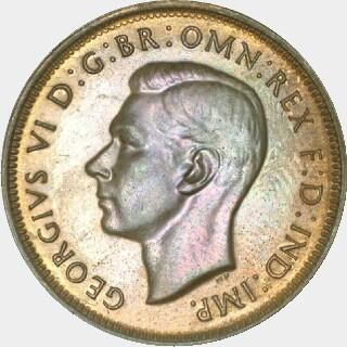1947-Y Proof Half Penny obverse