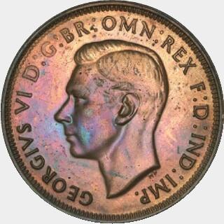 1948-Y Proof Half Penny obverse