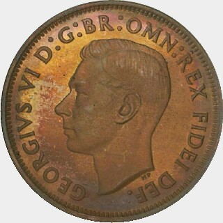 1949-Y Proof Half Penny obverse