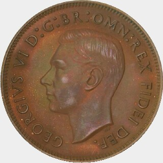1951 Proof Half Penny obverse