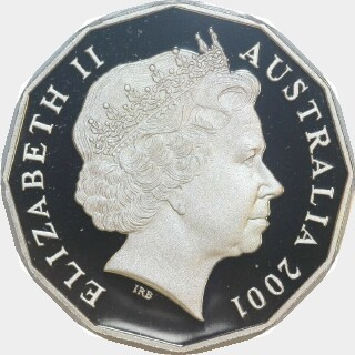 2001 Proof Fifty Cent obverse