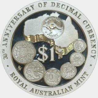 1996 Proof One Dollar reverse