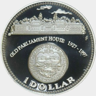 1997 Proof One Dollar reverse
