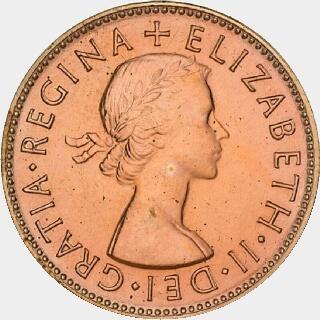 1954-Y Proof Half Penny obverse