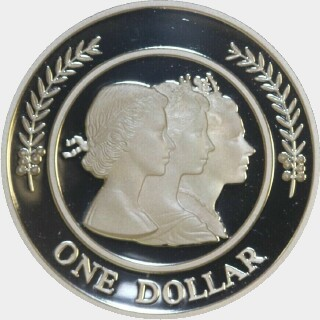1999 Proof One Dollar reverse