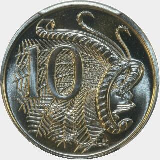 1987  Ten Cent reverse