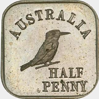 1920 Type 1 Half Penny reverse