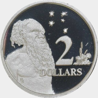 1988 Silver Proof Two Dollar reverse