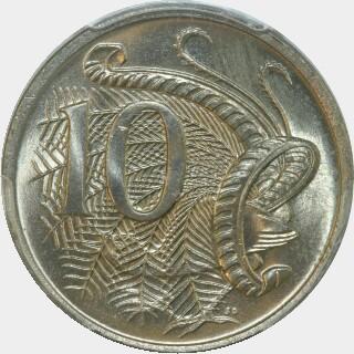 1969  Ten Cent reverse