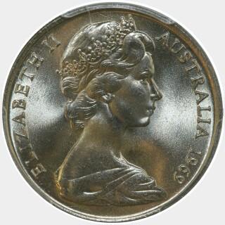 1969  Ten Cent obverse