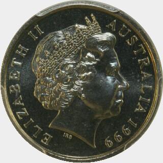 1999  Ten Cent obverse