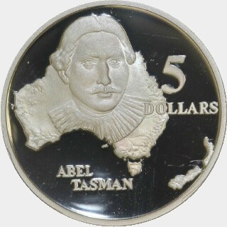 1993 Proof Five Dollar reverse
