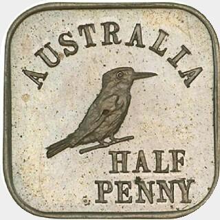 1920 Type 1a Half Penny reverse