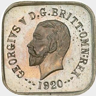 1920 Type 1a Half Penny obverse