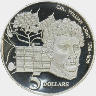 1995 Proof Five Dollar reverse