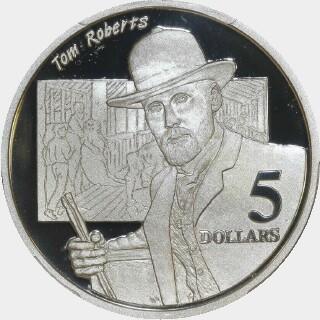 1996 Proof Five Dollar reverse