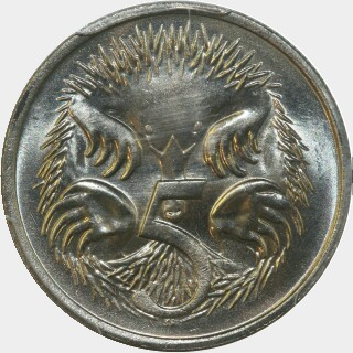 1983  Five Cent reverse