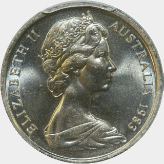 1983  Five Cent obverse