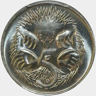 1981  Five Cent reverse