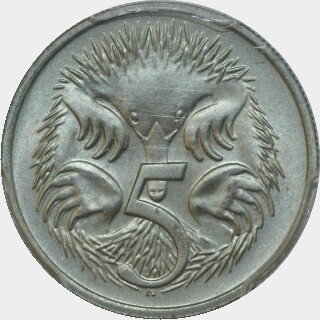 1979  Five Cent reverse