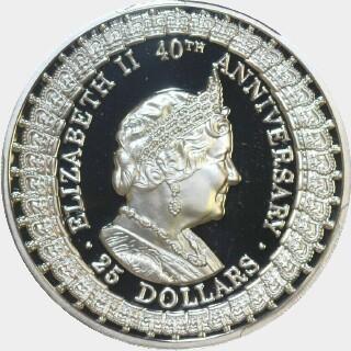 1992 Proof Twenty Five Dollar reverse