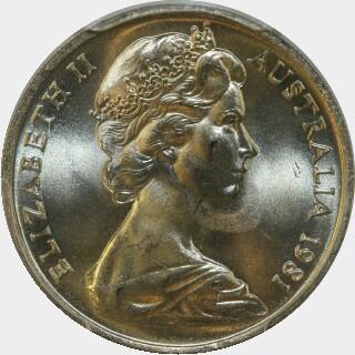 1981  Ten Cent obverse