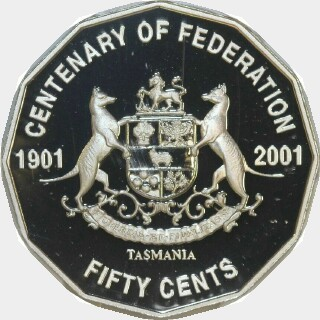 2001 Proof Fifty Cent reverse