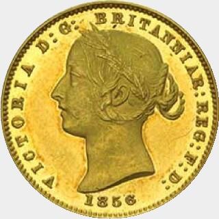 1856 Proof Half Sovereign obverse