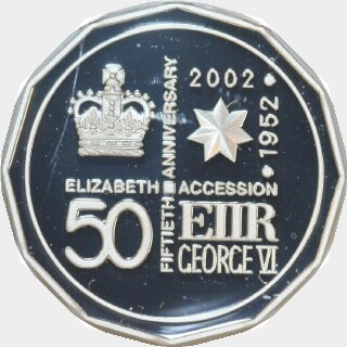 2002 Proof Fifty Cent reverse