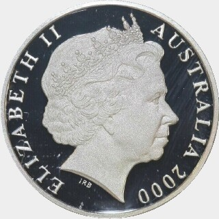 2000 Proof Silver One Dollar obverse