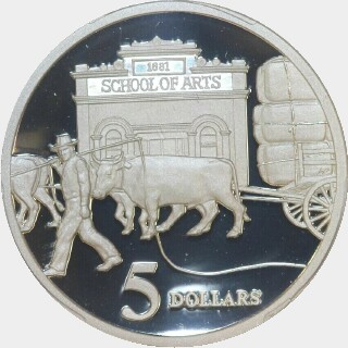 1997 Proof Five Dollar reverse