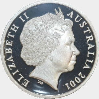 2001 Silver Proof Five Dollar obverse