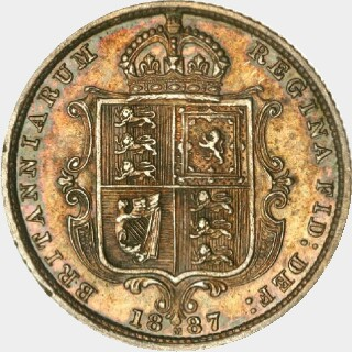 1887-M Struck in Platinum Half Sovereign reverse