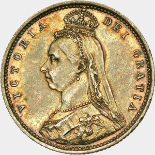 1887-M Struck in Platinum Half Sovereign obverse
