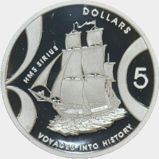 2002 Proof Five Dollar reverse