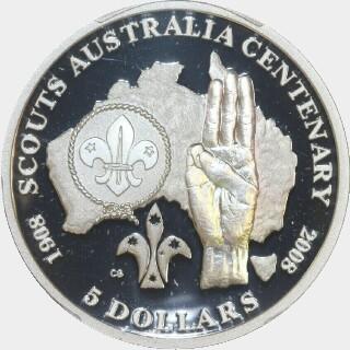 2008 Proof Five Dollar reverse