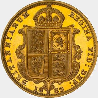 1889-M Pattern Half Sovereign reverse