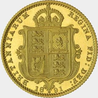 1891-M Pattern Half Sovereign reverse