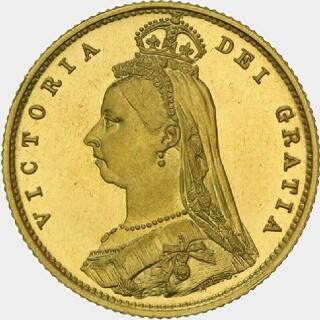 1891-M Pattern Half Sovereign obverse