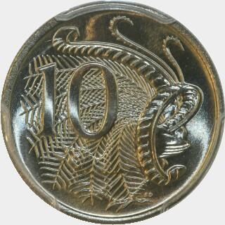1980  Ten Cent reverse