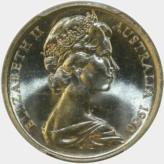 1980  Ten Cent obverse