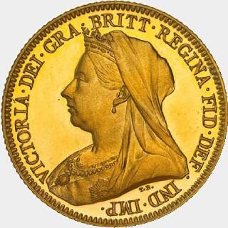 1893-M Proof Half Sovereign obverse