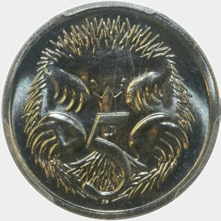 1984  Five Cent reverse