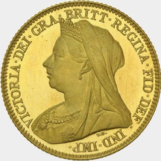 1898-M Pattern Half Sovereign obverse