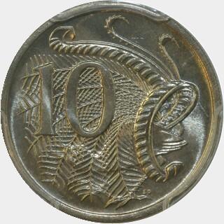 1972  Ten Cent reverse