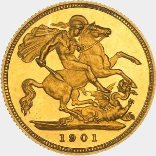 1901-P Pattern Half Sovereign reverse