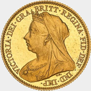 1901-P Pattern Half Sovereign obverse